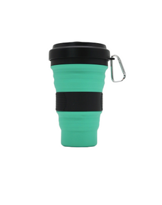 Collapsible Coffee Cup Black Design 550ml (C1)