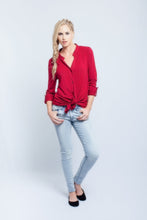 Load image into Gallery viewer, Long Sleeve Blouse Red