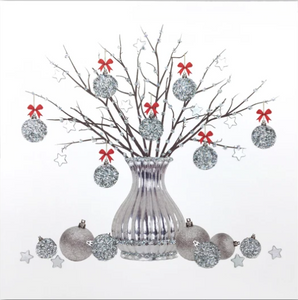 Silver Christmas Card Pack SC01