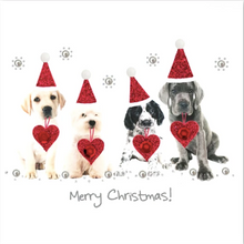 Load image into Gallery viewer, Red/Silver Christmas Card Pack RSC03