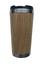 Load image into Gallery viewer, Bamboo/Stainless Steel Coffee Cup