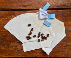 Organic Cotton Coffee Filters Set