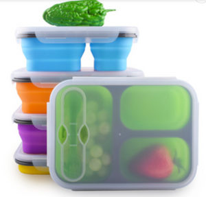 Collapsible  Lunch Box 3 Compartments