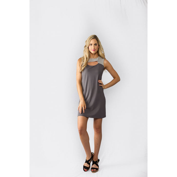 Cut-out Dress Grey