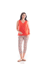 Load image into Gallery viewer, Front Pkt 7/8 Pants Orange Print