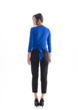 Load image into Gallery viewer, Tie Wrap Top Blue