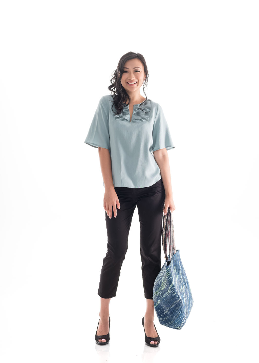 Flare Sleeve Top Green