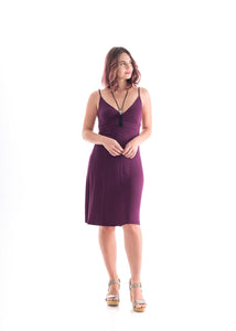 Spaghetti Strap Dress purple