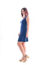 Load image into Gallery viewer, Sleeveless Dress Blue
