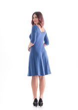 Load image into Gallery viewer, 3/4 Sleeve Dress Blue