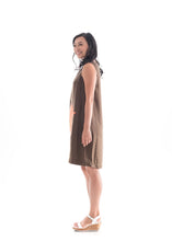 Load image into Gallery viewer, Applique Cocoon Dress Khaki