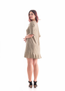 Ruffle Dress Sand