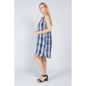 Blue Check Shirt Dress