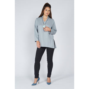 Tunic Top Steel Blue