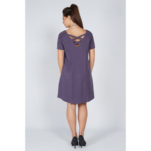 Cross Back Dress Indigo