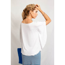 Load image into Gallery viewer, Boat Neck Blouse White