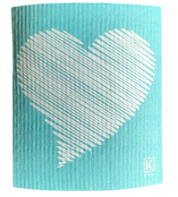 Load image into Gallery viewer, Kliin Bio Kitchen Towel Small - Heart Print