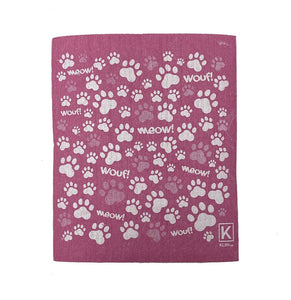 Kliin Bio Kitchen Towel Small - Paw Print