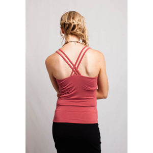 Strappy Back Top Marsala