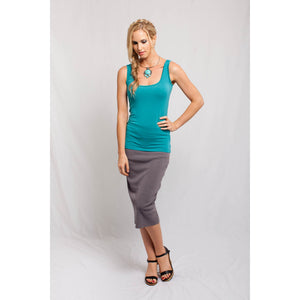 Square Neck Tank Teal