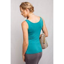 Load image into Gallery viewer, Square Neck Tank Teal