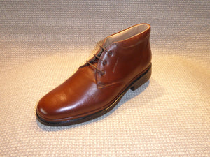 Shoetherapy Monaco 27805 Mens Leather Plain Front Laced Chukka Boot