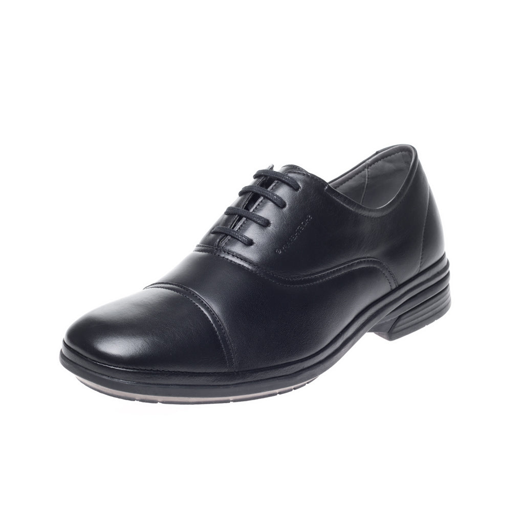 J. Shoetherapy Bubble Therapy 30717 Mens Black Leather Lace up shoe