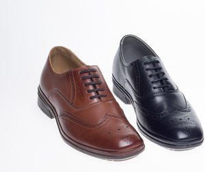 J. Shoetherapy Bubble Therapy 30719 Mens Leather Brogue Lace Up shoe