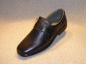 C. Shoetherapy BARCELONA 43113 Mens Leather Plain Front Velcro Slip on Shoe