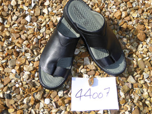 K. Shoetherapy 44007 Mens Black Leather open toe Sandal AVAILABLE IN SAMPLE SIZE 8/42 ONLY Limited Stock!