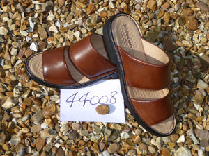 K. Shoetherapy 44008 Mens Brown Leather strap Sandal AVAILABLE IN SAMPLE SIZE 8/42 ONLY Limited Stock!