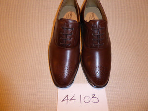 K. Shoetherapy 44103 Mens Cafe Brown Leather Brogue Lace up Shoe AVAILABLE IN SAMPLE SIZE 8/42 ONLY Limited Stock!