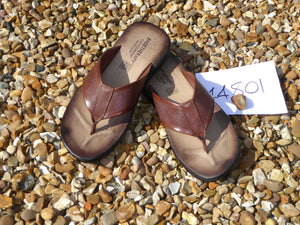 K. Shoetherapy 44801 Mens Brown Leather toe post Sandal AVAILABLE IN SAMPLE SIZE 8/42 ONLY Limited Stock!