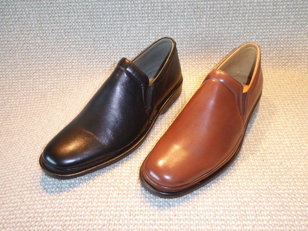 H. Shoetherapy Excellence 5012 Mens Leather Plain front Casual Slip on Shoe