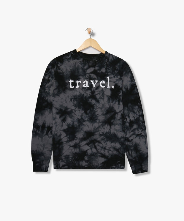 Hudson Tie Dye Sweatshirt From New York | Jet Black