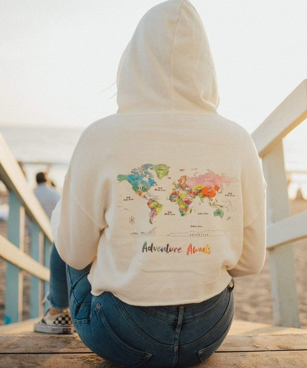 Serengetee - Wear The World Adventure Awaits Cropped Hoodie from Indonesia
