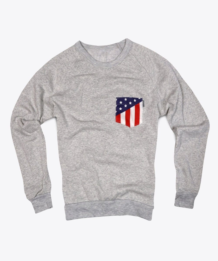 Serengetee - Wear The World American Flag Pocket Sweatshirt