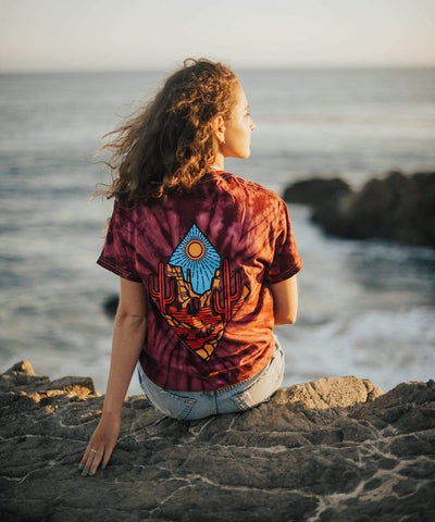 Serengetee - Wear The World Burgundy Mojave Tie Dye Tee