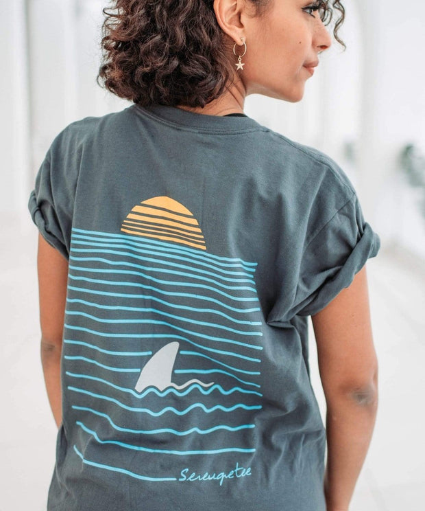 Serengetee - Wear The World Charcoal Sea To Sun Tee