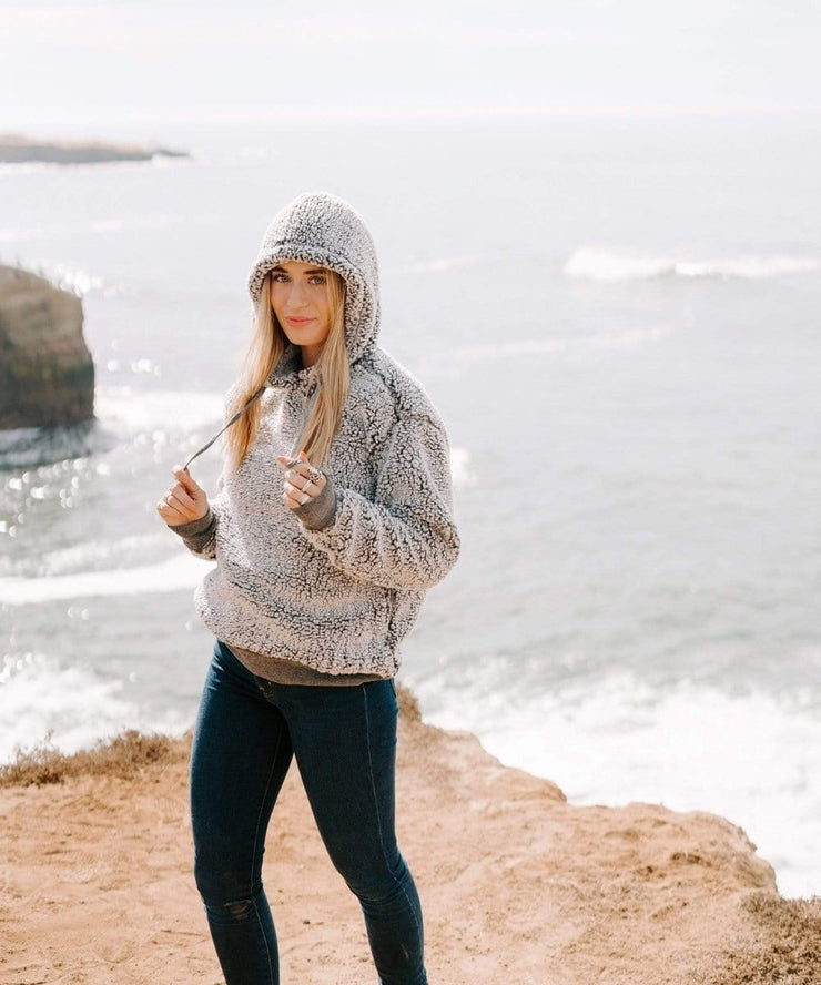 Serengetee - Wear The World Frosty CabinCozy Sherpa Hoodie