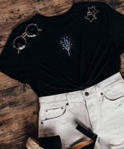 Serengetee - Wear The World Galaxy's Garden Cropped Tee