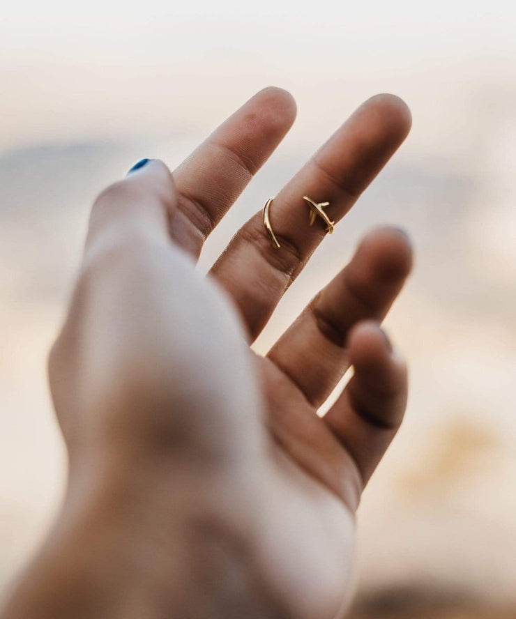 Serengetee - Wear The World Gold Plane Ring From New York