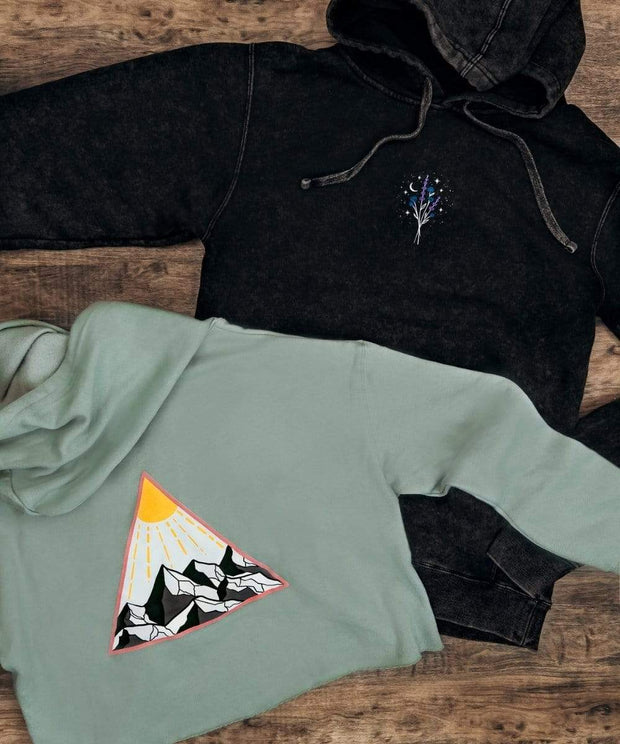 Serengetee - Wear The World Golden Hour Cropped Hoodie from Utah