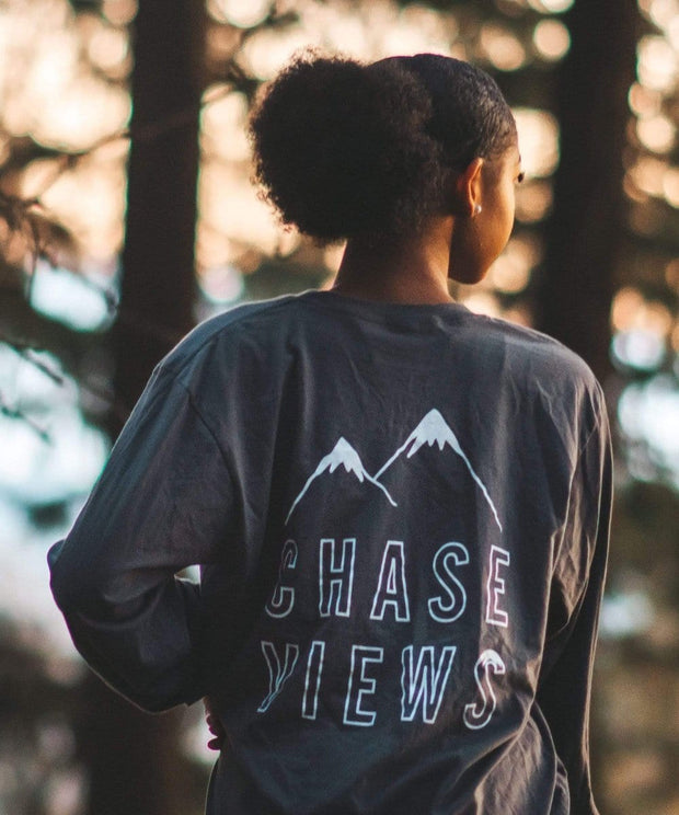 Serengetee - Wear The World Heather Charcoal Chase Views Long Sleeve