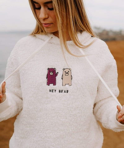 Serengetee - Wear The World Hey Bear Sherpa Hoodie From California