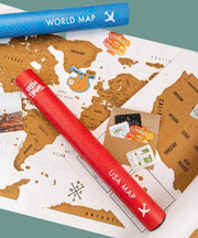 Serengetee - Wear The World Home & Away Scratch Map Bundle From Indonesia