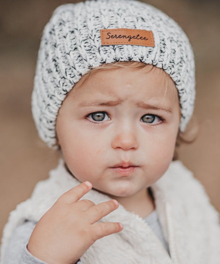 Kids Speckled Double Pom Beanie