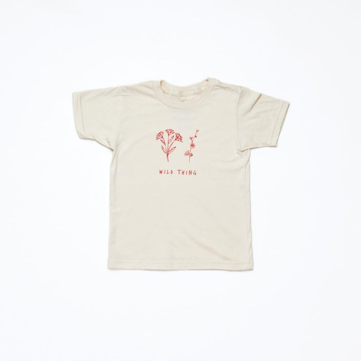 Kids Wild Thing Organic Tee | Oatmeal + Cranberry