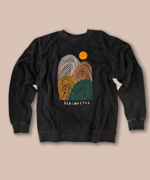 Serengetee - Wear The World Loopy Hills Pigment Sweatshirt From Wyoming
