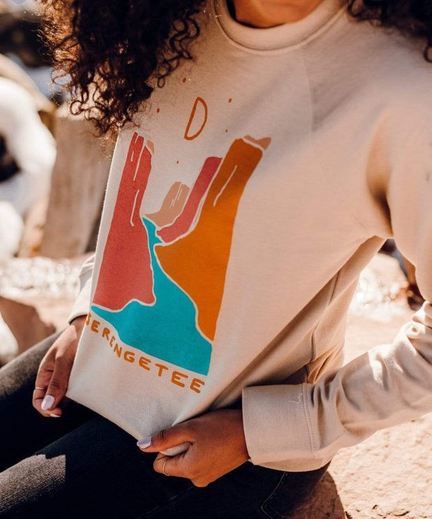 Serengetee - Wear The World Oatmeal Canyons Sweatshirt From Wyoming
